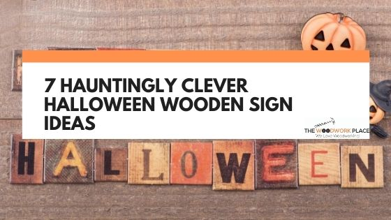 halloween wooden signs